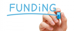 funding options hand blue marker